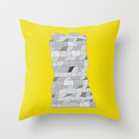 Neighborhood Print Throw Pillow