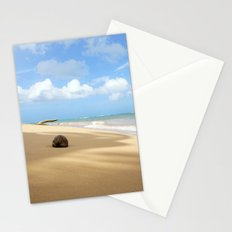 Loquillo Beach Photography - Turquoise Ocean, Blue Sky, Warm Golden Sand Stationery Cards