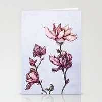 Spring Magnolias Stationery Cards