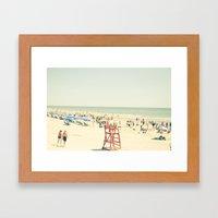 Beach People Framed Art Print