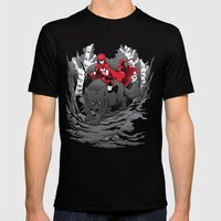 Red Mens Fitted Tee Black SMALL