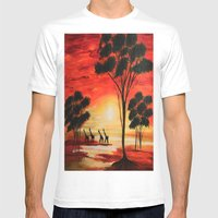 African sunset Mens Fitted Tee White SMALL