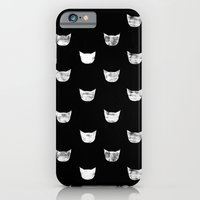 iPhone Cases featuring White Cat by leah reena goren
