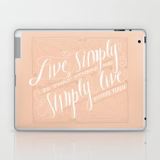 Live Simply Laptop & iPad Skin