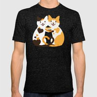 Lovecats Mens Fitted Tee Tri-Black SMALL