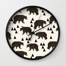 Geo Bear by Andrea Lauren Wall Clock