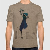 Peacock Head Mens Fitted Tee Tri-Coffee SMALL