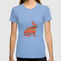 India Style Pattern (Multicolor) Womens Fitted Tee Tri-Blue SMALL