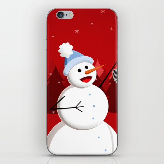 Happy Singing Snowman iPhone & iPod Skin