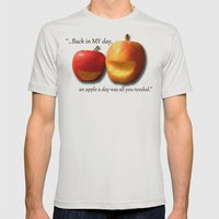An Apple A Day... Mens Fitted Tee Silver SMALL