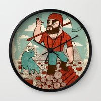 Paul Bunyan & Babe Wall Clock