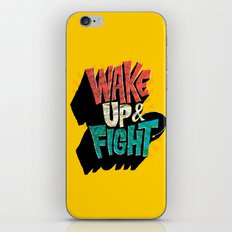 Wake Up And Fight iPhone & iPod Skin