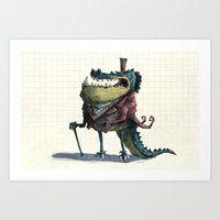 Fancy Crocodile Art Print