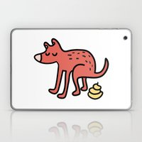 Pooping dog Laptop & iPad Skin