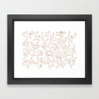 monkey dance Framed Art Print