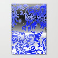 Fly Day Or Night Canvas Print