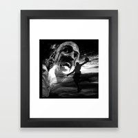 Michael JORDAN - BLACK version Framed Art Print