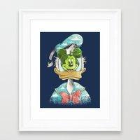 duck magritte Framed Art Print