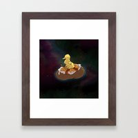 Space Duck Framed Art Print