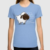 Catan You Give Me Wood? Womens Fitted Tee Tri-Blue SMALL