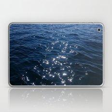 Sparkly Deep Blue Sea Waves Laptop & iPad Skin