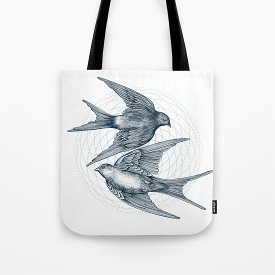 Two Swallows Tote Bag
