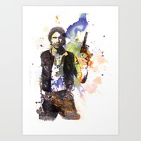 Han Solo From Star Wars  Art Print