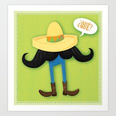 Mexstache Art Print