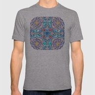 Moroccan Mandala 04 Mens Fitted Tee Athletic Grey SMALL