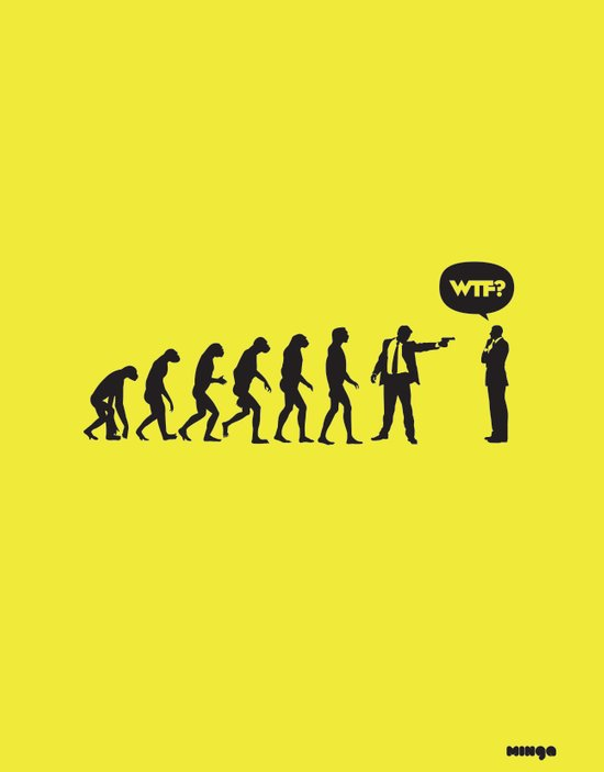 WTF? Evolution! Art Print