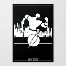 Flash Silhouette Black & White Canvas Print