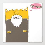 Meow-chelangelo Buonarro… Canvas Print