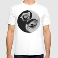 ying yang Mens Fitted Tee SMALL White