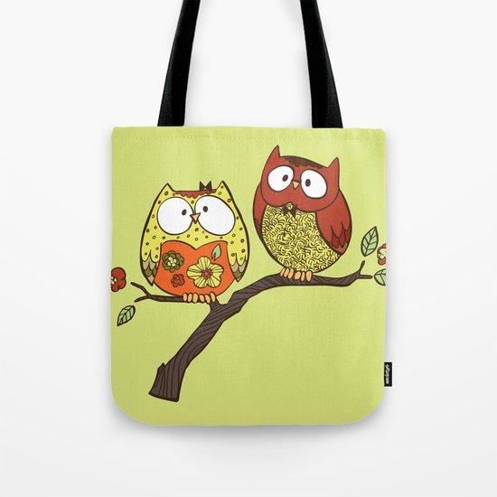 Decorative Owls Tote Bag