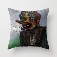 The Eye in the Ointment Throw Pillow