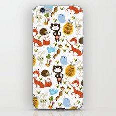 Fox, bear and rabbit iPhone & iPod Skin