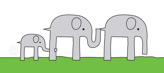 Elephant Family Art Print