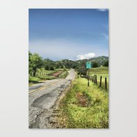 No Turn Around Beyond This Point Canvas Print