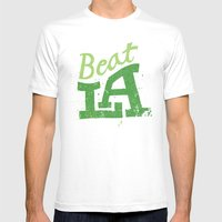 Beat LA Mens Fitted Tee White SMALL