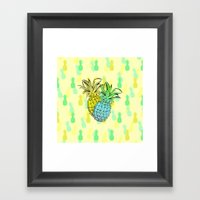 Pineapples Framed Art Print