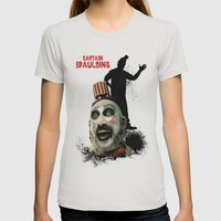 Captain Spaulding: Monster Madness Series Womens Fitted Tee Silver SMALL