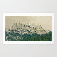 Castle Crags - Californi… Art Print