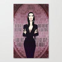 Morticia Addams Bridal Shower Invite Canvas Print