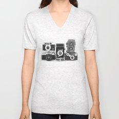 Vintage Camera Collection Unisex V-Neck
