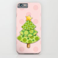 Pink Polka Dots Christmas iPhone 6 Slim Case