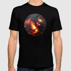 Flaming Seashell 4 Black Mens Fitted Tee SMALL