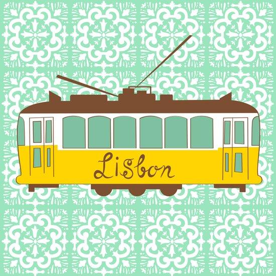 Lisbon Tram Art Print