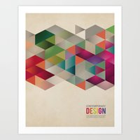 contemporary design Art Print