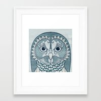 Framed Art Print featuring Owlustrations 1 by Colin Spence Design
