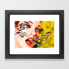 What You looking at? (collage) Framed Art Print